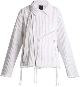 Craig Green Piped Cotton Biker Jacket - Womens - White