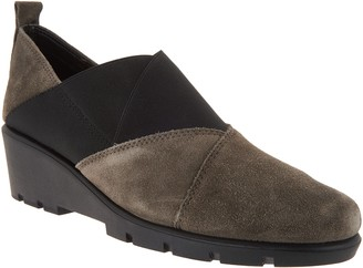 The Flexx Suede Cross-Band Slip-on Shoes - Cross Town