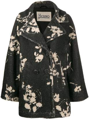 Herno negative flower coat