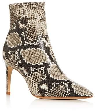 Sophia Webster Women's Rizzo 85 Snake-Embossed High-Heel Booties
