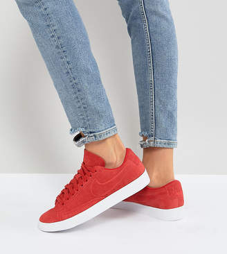 Nike Blazer Low Red Suede Sneakers