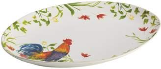 Bonjour Meadow Rooster Oval Platter