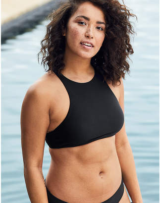 aerie High Neck Crop Bikini Top