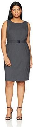 Calvin Klein Women's Plus Size Lux Belted Dress