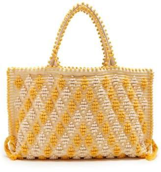 Antonello Tedde - Capriccioli Medium Cotton Tote - Womens - Yellow White