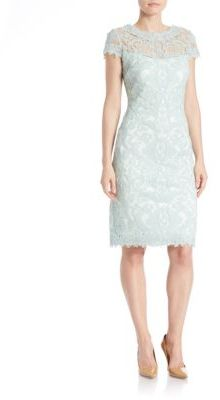 Tadashi Shoji Soutache-Embroidered Sheath Dress $419 thestylecure.com