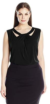 Nine West Women's Plus Size Criss Cross Neck Cami