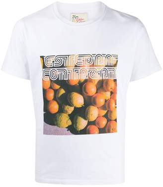 Esteban Cortazar printed cotton T-shirt