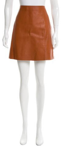 3.1 Phillip Lim 3.1 Phillip Lim Leather Mini Skirt