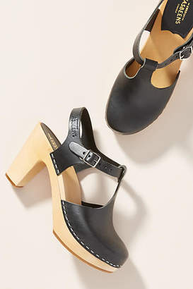 Swedish Hasbeens T-Strap Clog Sandals