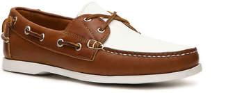 Ralph Lauren Telford II Leather Color Block Boat Shoe - Men's