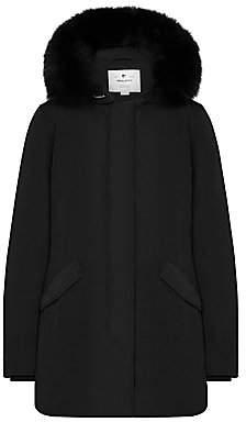 Woolrich Women's Luxury Arctic Fox Fur Trim Parka