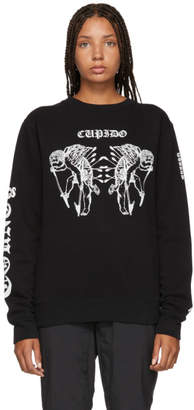 Marcelo Burlon County of Milan Black Cupido Tattoo Sweatshirt