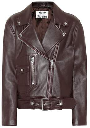 Acne Studios Boxy Biker leather jacket