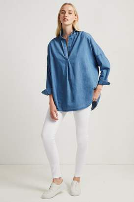 French Connenction Tidore Chambray Popover Shirt