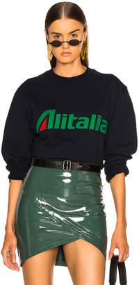 Alberta Ferretti x Alitalia For FWRD Logo Sweatshirt