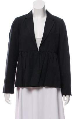 Ulla Johnson Linen-Blend Pleated Jacket