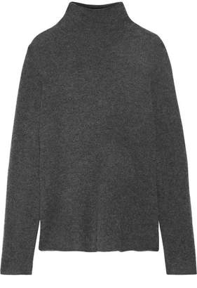 James Perse Cashmere-blend Felt Turtleneck Sweater - Dark gray