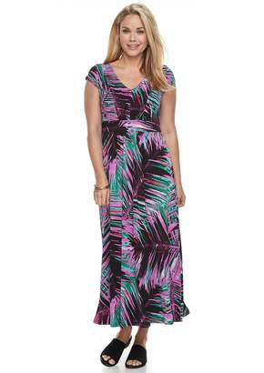 Dana Buchman Petite Shirred Crepe Maxi Dress