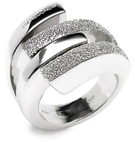 Pianegonda Twisty Diamond-Cut Silver Ring