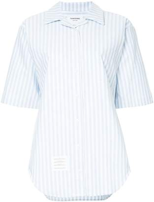 Thom Browne striped shortsleeved shirt