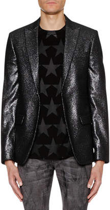 Just Cavalli Men's One-Button Metallic Jacket