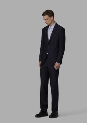 Giorgio Armani Slim-Fit Half-Canvas Cupro Soho Suit