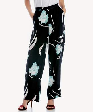 Sole Society Flat Front Wide Leg Soft Pant