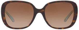 Tiffany & Co. Tortoiseshell Square Sunglasses