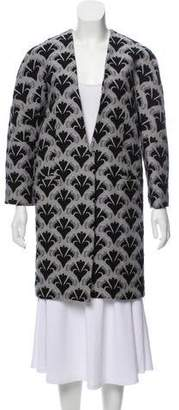 Diane von Furstenberg Long Sleeve Button Up Jacket