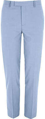 Mens Blue skinny suit trousers