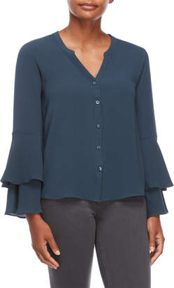 Harve Benard Layered Bells Crepe Blouse