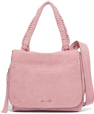 Elizabeth and James - Suede Shoulder Bag - Pink $545 thestylecure.com