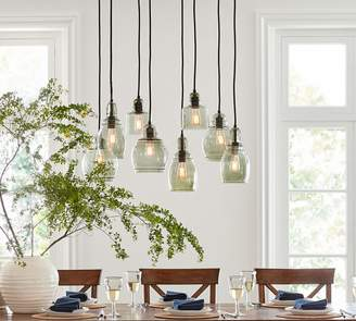 Pottery Barn Paxton Glass 8-Light Pendant