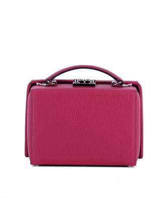Mark Cross Fucsia Leather Handle Bag