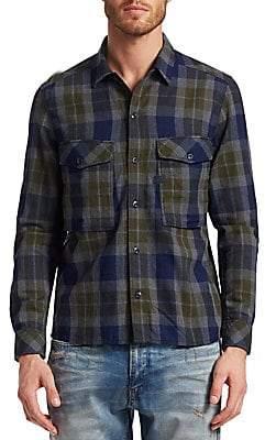 G Star Men's Cotton Check Utility Shirt