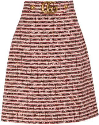 Gucci Striped tweed skirt