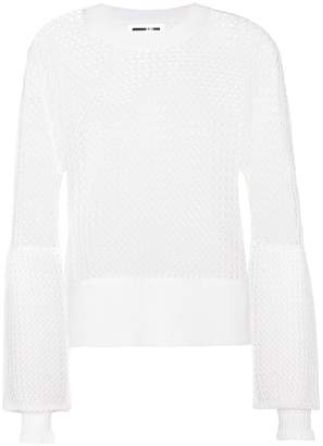 McQ Knitted wool mesh sweater