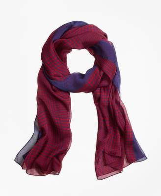Brooks Brothers Houndstooth Scarf