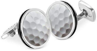 M-Clip Bordered Round Golf Ball Cufflinks