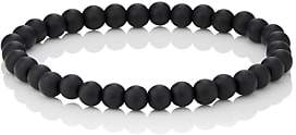Barneys New York Men's Onyx Beaded Bracelet-Black