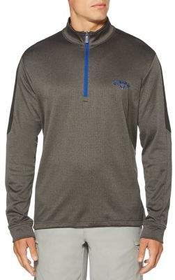 Callaway Big And Tall Big & Tall Opti-Therm Heathered Waffle Fleece Mid-Layer Pullover Golf Jacket