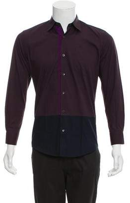 Dries Van Noten Colorblock Long Sleeve Shirt