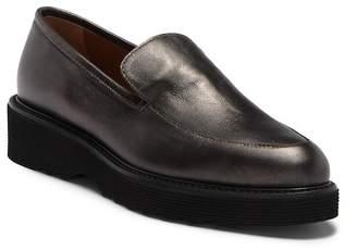Aquatalia Kelsey Metallic Calf Leather Loafer