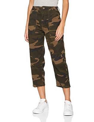 New Look Petite Women's 5979383 Trousers, (Green Pattern), (Size:16)