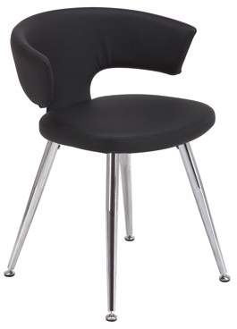 Vogue Furniture Direct Contemporary Faux Leather Chair with Chromed legs VF1681003