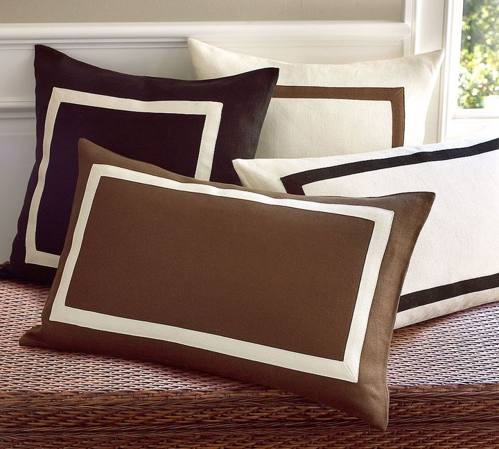 Framed Textured Pillow Cover