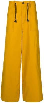 Marni drawstring wide-leg trousers