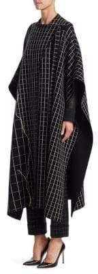 Akris Marble Tiles Reversible Cashmere Poncho