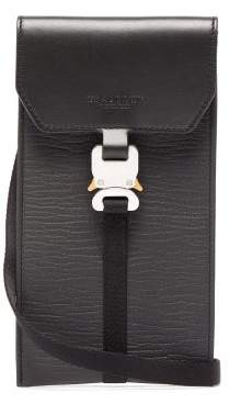 Alyx Mini Safety Buckle Leather Pouch - Mens - Black
